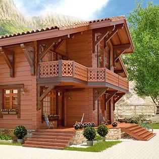 Дома кедра-лиственницы
